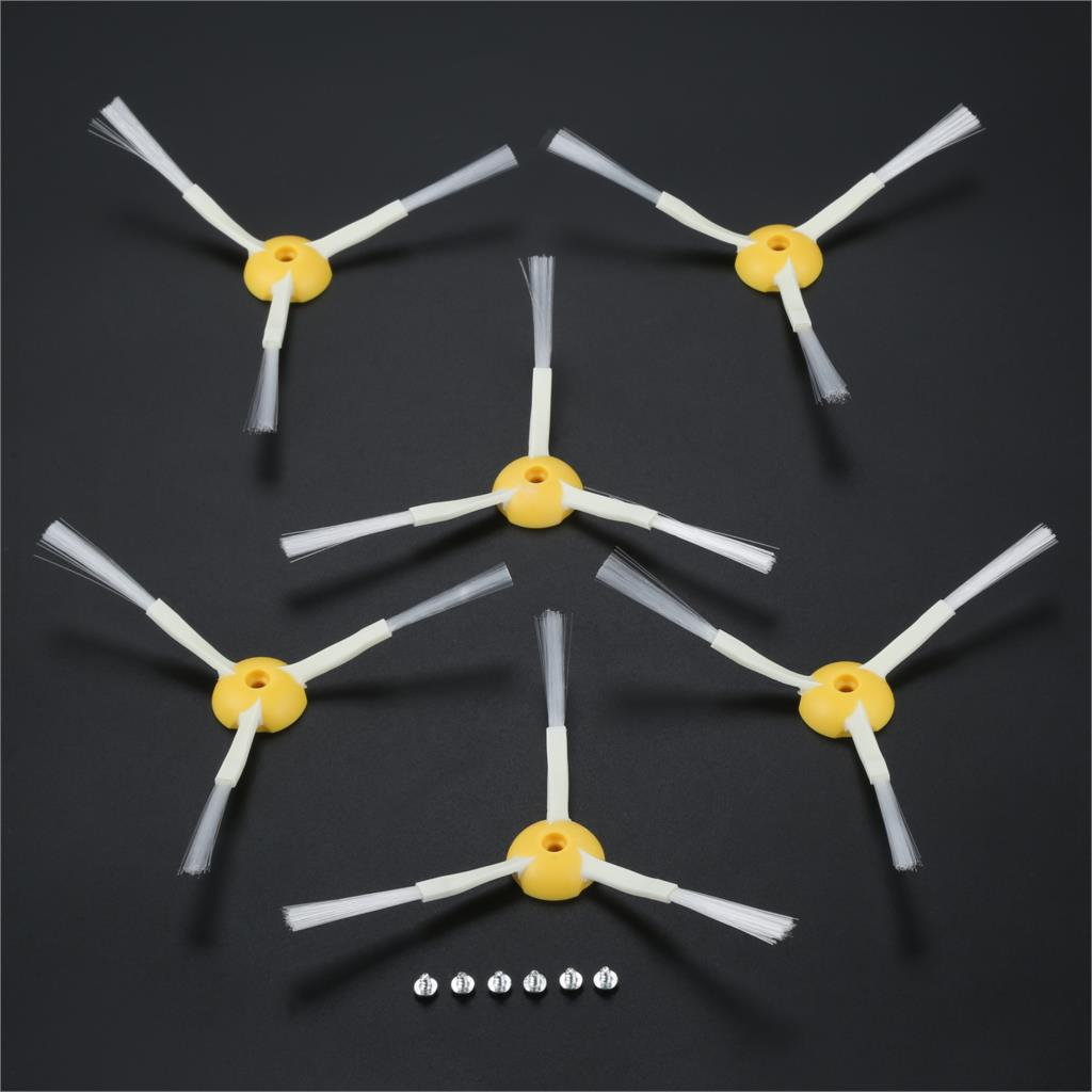 6Set 3-Armed Side Brush For iRobot Roomba 600 700 Series 528 595 615 620 630 650 660 760 770 780 Robot Vacuum Cleaner Spare Part