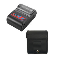 GOOJPRT Mini Portable Bluetooth Wireless Thermal Receipt Printer Mobile Bill Printers with PU Case Bag EU US UK Plugs 58mm Paper