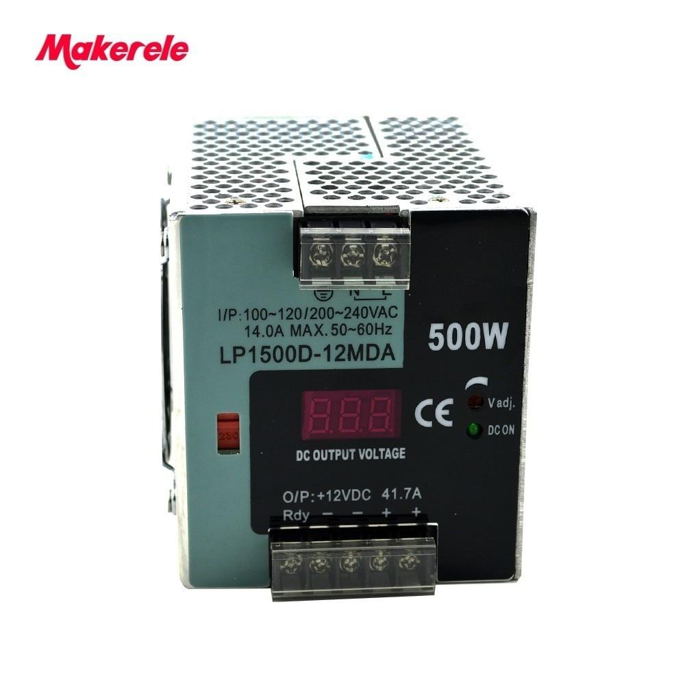 Haute puissance Din Rail interrupteur alimentation grande puissance 500 W AC à DC12V 24 V 48 V SMPS pour l'électronique Led bande affichage makerele