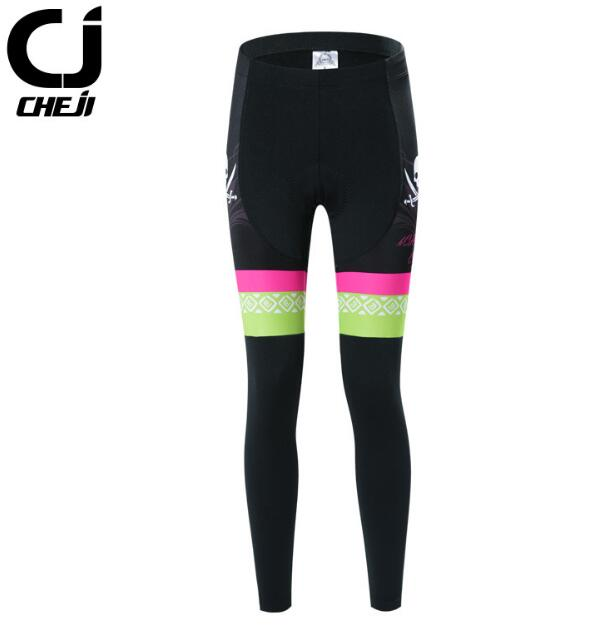62275ca4d90 CHEJI Cycling Pants Women Autumn Long For Women Bike Pants Padded Bicycle  Trousers MTB long Tights With Pad-in Cycling Pants from Sports    Entertainment on ...