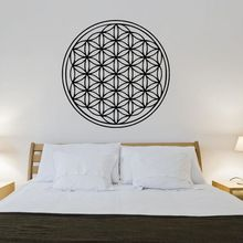 Flower Of Life Wall Decal Geometry Style Sticker Home Decor Flowers of Vinyl Mural Bedroom Wallpaper AY1439