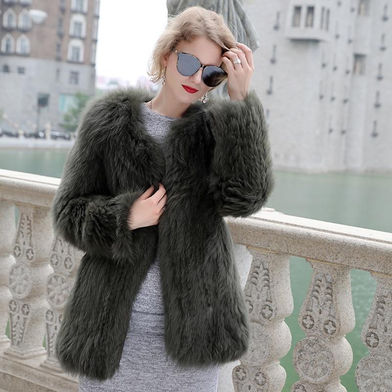 Luxury Women\'s Coat Jackets Real Fox Fur Jackets For Girls Natural Fox Fur Outerwear Female Winter Coats Warm (3)