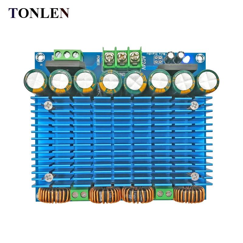 TONLEN TDA8954TH Dual Chip D Digital Amplifier Board Audio Amplifier Board 420W*2 Super Power Amplifier Module 2.0 channel AMP