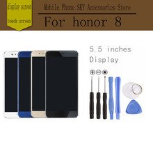 For Huawei Honor 8 LCD Display Screen Digitizer Touch Screen honor8 Prime Glass Panel 5.2Inch FreeTools