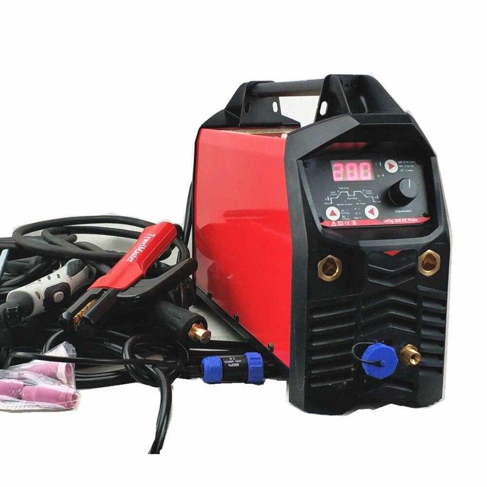 Digital TIG/MMA Welding Machine DC 200A Pulse CE IGBT Inverter Welder Equipment DC Pulse TIG Welding Machine цена