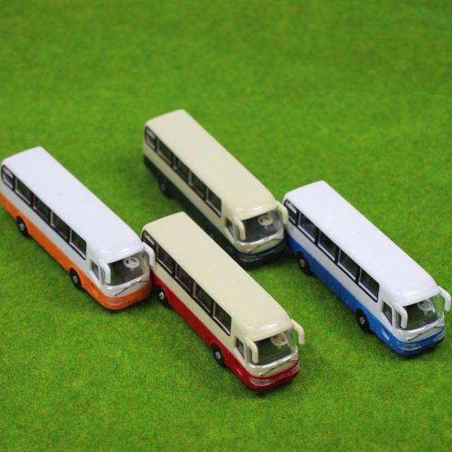 2pcs Model Cars Buses 1:100 TT HO Scale Railway Layout Plastic NEW Free Shipping  BS10001  railway modeling 2