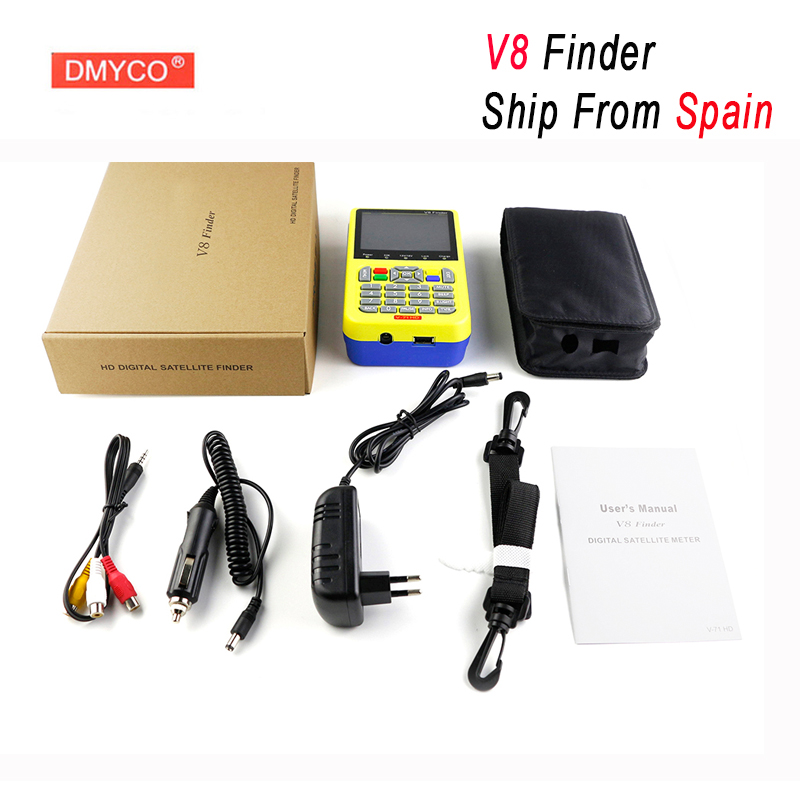 DMYCO V8 Finder HD Digital TV SatFinder DVB-S2 Satellite Finder MPEG-4 DVB S2 Satellite Meter Full 1080P FTA satellite Decoder 1pc original satlink ws 6933 ws6933 dvb s2 fta c ku band digital satellite finder meter free shipping