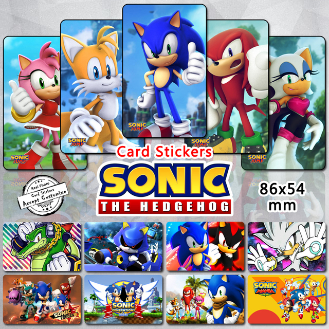 35pcs sonic the hedgehog characters stickers tails knuckles silver