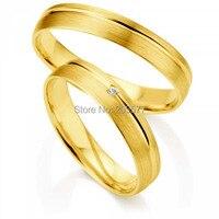 2014 г. модные свадебные ювелирные изделия из желтого золота слой покрытия ручной работы женские мужские titanium Свадебные пары любителей кольц