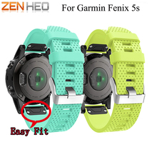 20mm Quick Release Easy Fit for Garmin Fenix 5S Silicagel Soft Band Strap Watchband Bracelet Wrist