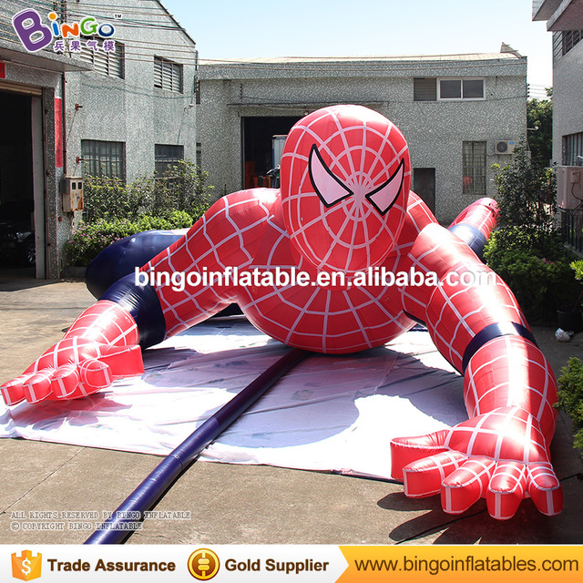 Free Shipping Oxford nylon cloth toys figure giant inflatable spiderman