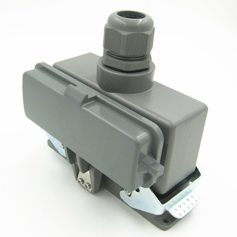 HDC-HE-024-2 Bring Cover Heavy Load Connector Shuangkou Top Outlet Heat Flux Avenue 24 Core 16A Plug Rectangle passion bs 024 2