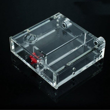Full transparent acrylic water tank optical drive bit water with flow meter liquid red flow and 2pcs kuaining fitting