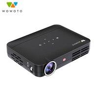 WOWOTO проектор 1280*800 Разрешение Android Wi Fi Bluetooth 600 Ansi светодиодный Портативный HD мультимедийный проектор для дома Кино ручная фокусировка H8
