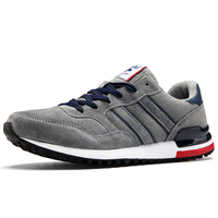 New Men Running Shoes Retro Jogging Shoes Suede Pigskin Men' s Shoes with Sneakers Running Shoes