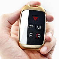 Aluminium Alloy Smart Remote Key Shell Case Bag Key Rings Cover For Land Range Rover Discovery
