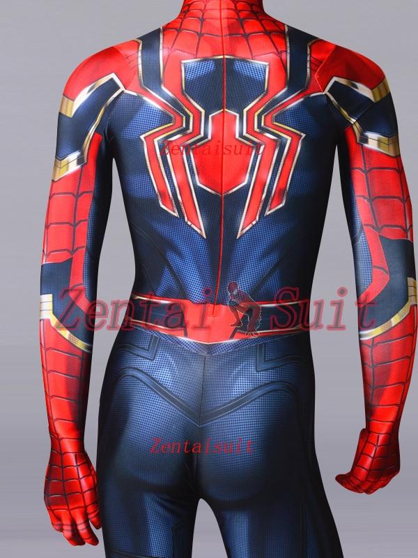Iron Spiderman Superhero Costume MCU Version 3 Spiderman Costume Spandex Cosplay Halloween Suit For Adult/Kids/Custom Made