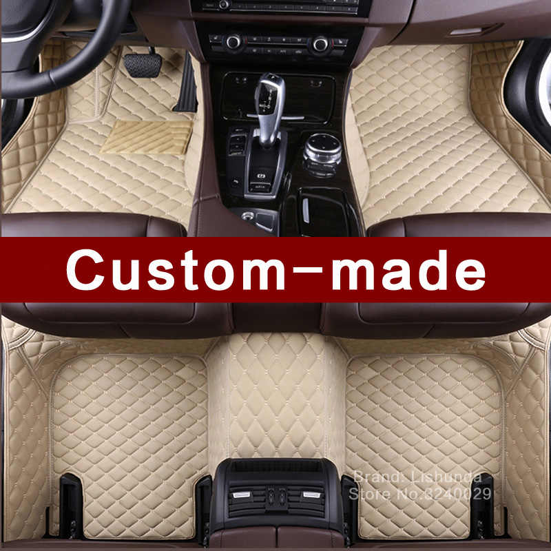 Alfombrillas de suelo de coche personalizadas para Ford Edge U387 fusión Mondeo Focus Expedition todo el tiempo resistente estilo de coche alfombra camisas alfombra
