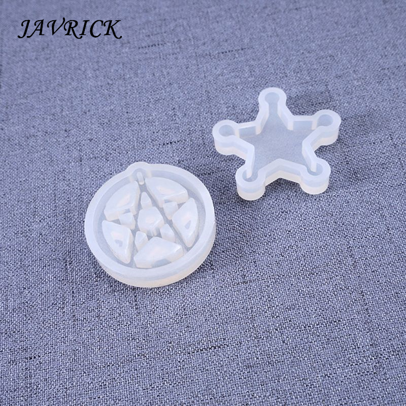 Cat Moon Star Silicone Molds Resin Earring Necklace Pendant Jewelry Making DIY Tools