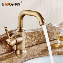 New Arrival Wholesale And Retail Antique Brass Bathroom Basin Faucet tap 360 Degree Swivel Spout Vanity Sink faucet Mixer LT1014 все цены