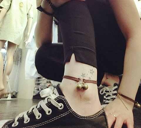 DIY instrukcja Harajuku para dziewczyn urodziny dostosowane dzwon bransoletka bransoletka łańcuszek na kostkę para