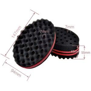 Image 5 - ELERA Oval Double Sides Magic twist hair brush sponge,Sponge Brush for Natural,afro coil wave dread sponge brushes Free Ship