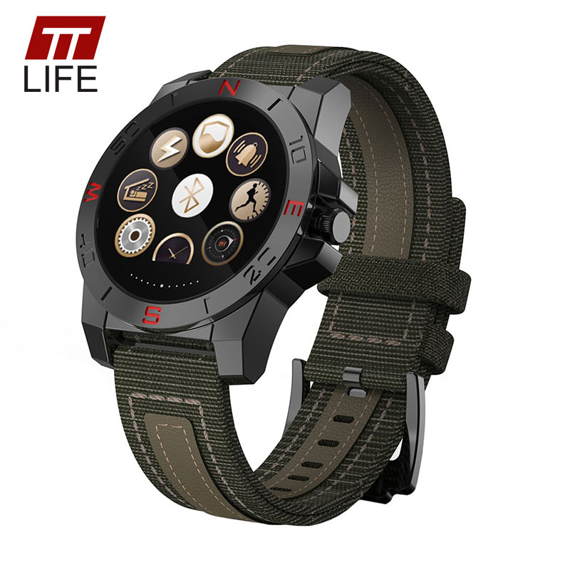 TTLIFE Brand Compass Altimeter Bluetooth Smart Watch Heart Rate Monitor Thermometer Sports Watch Men Barometer Climbing Watches garmin fenix 5s sapphire 42mm sports gps heart rate watch with compass