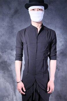 S-5XL!!2018 male spring and autumn three quarter sleeve men's clothing cotton hemp thin cardigan
