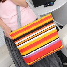SPECIAL OFFER! Summer Canvas Striped Prints Beach Tote Bags
