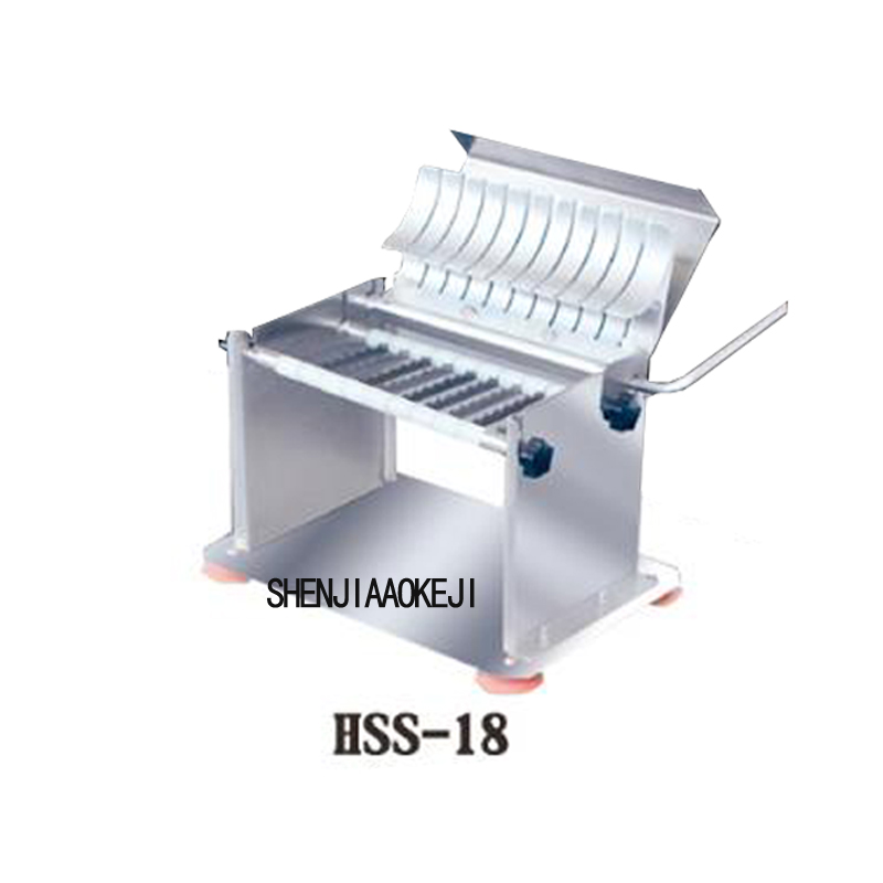 Multifunction Slicer Commercial Vegetable Sheet Cutting Machine Kitchen Tool HSS-18 Manual Sausage Slicer Stainless Steel 1PC