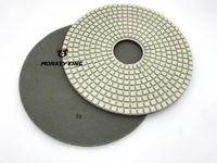 10mm Thickness 400mm Wet Diamond Polishing Pad For Concrete Cement