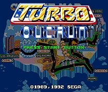 Turbo Outrun 16 bit MD Game Card For Sega Mega Drive For SEGA Genesis
