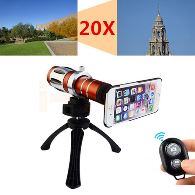 2017 20x telescópio lente teleobjetiva zoom óptico para samsung galaxy note 2 3 4 5 s3 s4 s5 s6 s7 7 borda caso tripé lente do telefone Kit