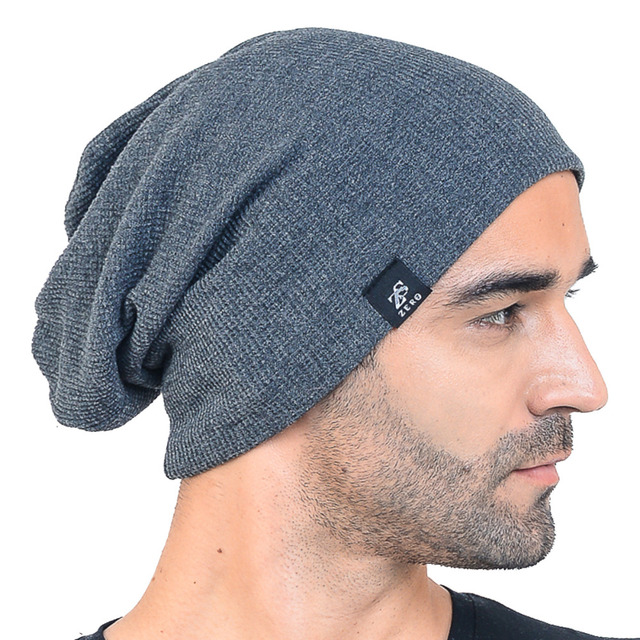 Retro Men Slouchy Beanie Baggy knitting Skullies Beanie For Men Large Soft  Summer Daily Hat HISSHE 29ec3ba4864