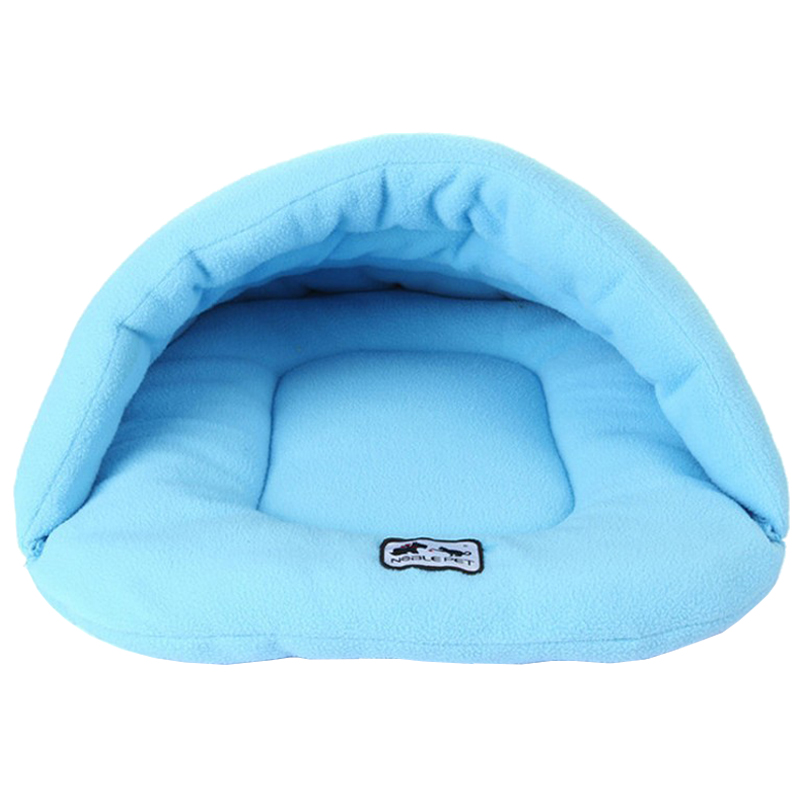 NOBLE PET Pet Dog Cat Puppy Cave Crate Cozy Warm Winter Bed House Sleeping Bag Mat Colors:Blue Sizes:S