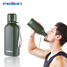 ФОТО feijian my sports water bottle stainless steel drink bottle food jar super durable military canteen wide mouth flask 700ml 24oz