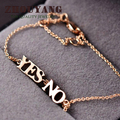 Top Quality Yes NO Alphabet  Rose/White Gold Plated Bracelet Fashion Jewelry Wholesale H078 H211