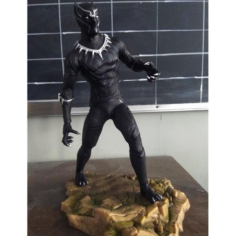 где купить 12 Inches Avengers 3 Black Panther Friends Iron Man Captain America 3 PVC Action Figure Collectible Model Toy L2083 по лучшей цене