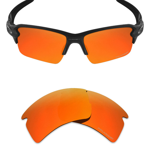 89168a7240ea2 Mryok+ POLARIZED Resist SeaWater Replacement Lenses for Oakley Flak 2.0 XL  Sunglasses Fire Red