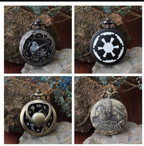 Nightmare Before Christmas Loki World Of Warcraft Quartz Antique Modern Hours Woman And Men Necklace Pocket Watches Gift KJl93