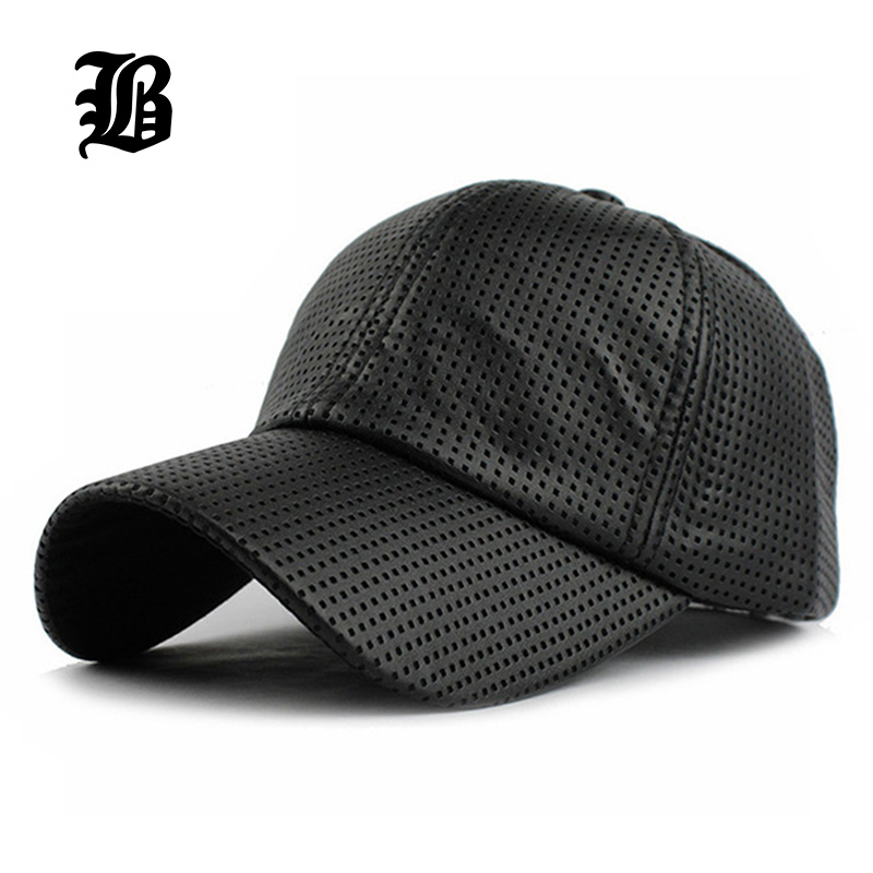 [FLB] Wholesale Hot PU Black Baseball Cap Women Fall Leather Cap Trucker Cap Fitted Snapback Hats For Men Winter Hat For Women