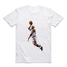Summer T Pattern Printed by Jordan/Superman/Kobe Bryant/Nash/Garnett White Round Neck Modal T-shirt