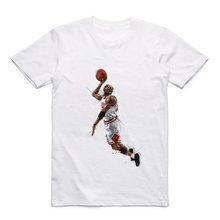 Summer T Pattern Printed by Jordan/Superman/Kobe Bryant/Nash/Garnett White Round Neck Modal T-shirt(China)