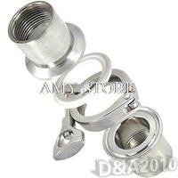 1 Pair 1 BSP SS304 Sanitary Female Pipe Fitting + TRI CLAMP 1.5 + PTFE Gasket