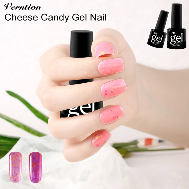 Verntion 3d Gel Polish Cheese Candy Glue Soak Off Uv Led Lucky Gel