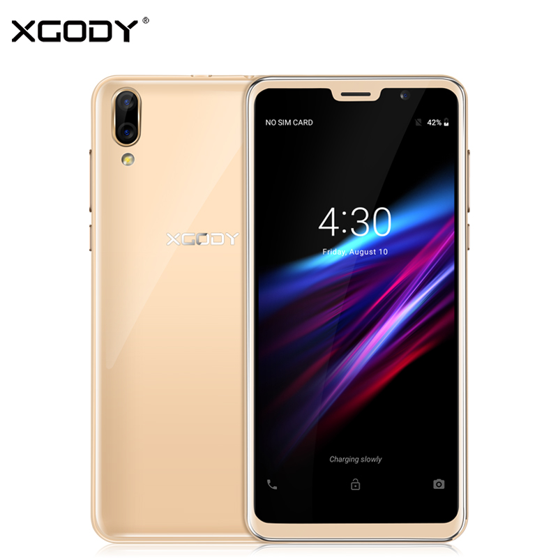 XGODY D26 Smartphone 5.5 Inch 18:9 Android 8.1 Dual Sim Mobile Phone Quad Core 1GB+8GB 2200mAh GPS Face ID 3G Unlock Cell Phones smartphone