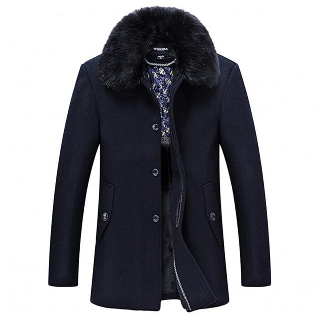 Hot Selling High Quality Fashion Fall Winter Men's Coat Long Sleeves Turtleneck Casual Men's Jackets Size M/L/XL/XXL/XXXL
