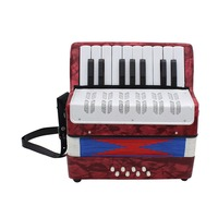 17 Key 8 Bass Mini Accordion Musical Toy for Educational Musical Instrument Simulation Learning Concertina Rhythm