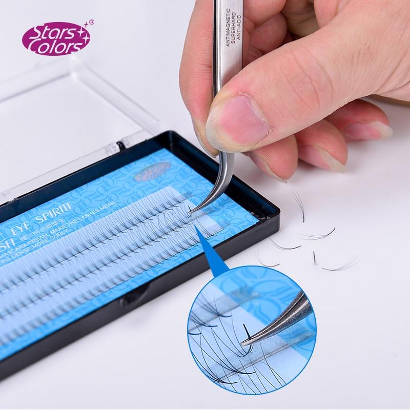 50 boxes lot Natrual 0 07mm Super Soft Faux Silk Lash 120 tabs 3D Fake False