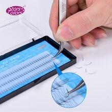 50 תיבות/הרבה Natrual 0.07mm סופר רך פו משי לאש 120 כרטיסיות 3D מזויף False ריסים באיכות גבוהה הארכת ריסים